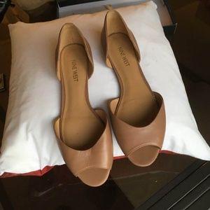 NINE WEST Byteme   peep toe d'orsay flats 8.5